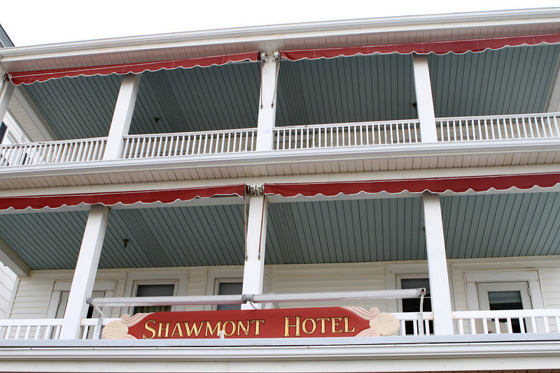 We stop in to look around the Shawmont Hotel with a great top floor view of the Atlantic