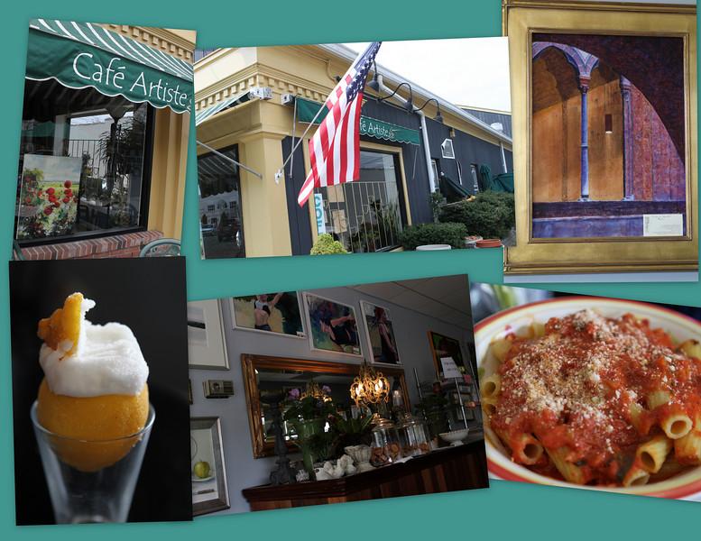 Lunch at Cafe Artiste - a hidden gem family run Italian restaurant - perfect.