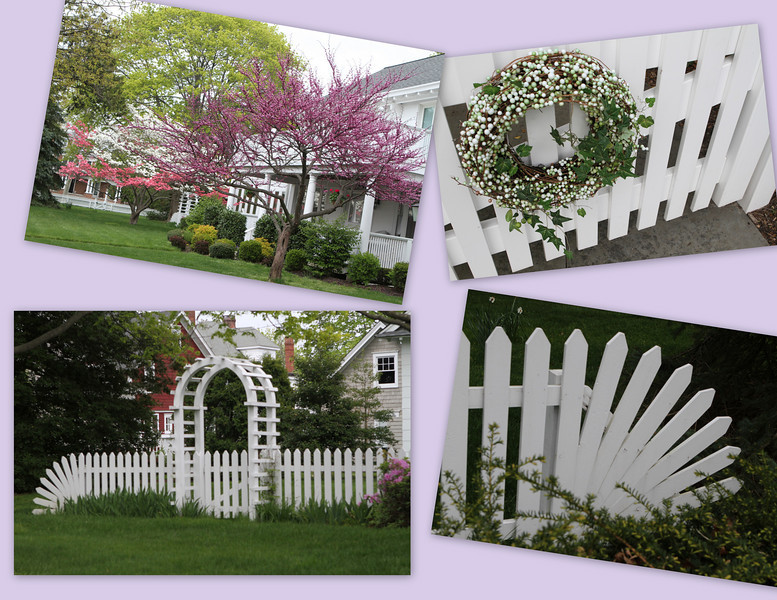 A world of details including picket fences which disappear directly into the ground !!