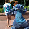 Since Melanie didn't have one, he decided to be her Stitch backpack
