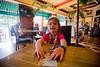 Mia at a bar in Martinique - 2016-02-04