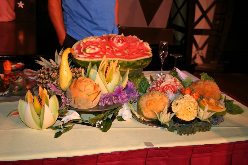 Fruit carving demonstration