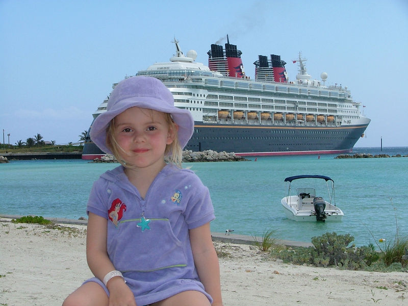 Our precious grandaughter at Castaway Cay