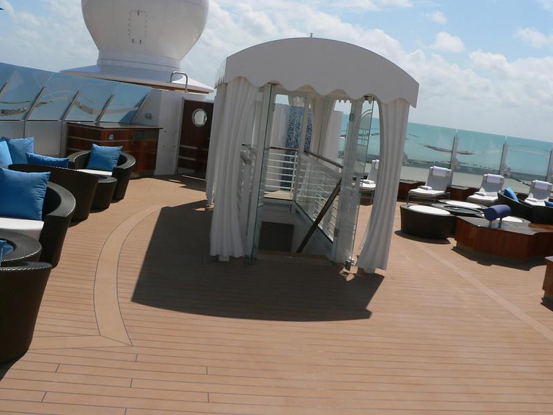 Suites area up front top deck.