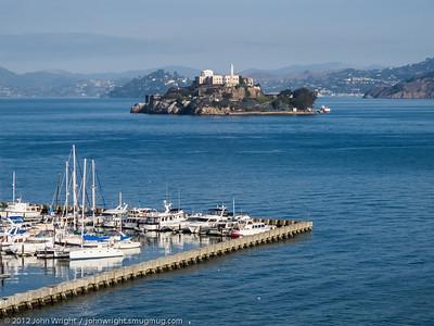 Alcatraz Island from the ship