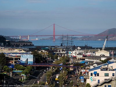 Wider view of the Golden Gate and Fisherman's Wharf