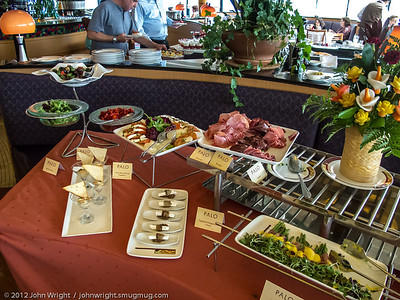 Close up of the appetizer bar