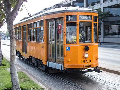 San Francisco vintage streetcar