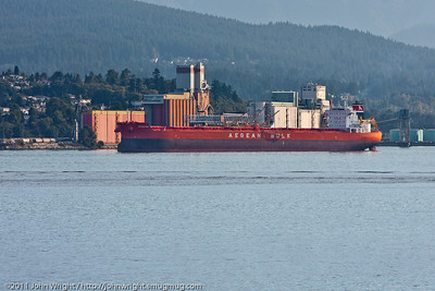Bulk carrier loading in Vancouver
