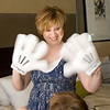 Amy with Mickey's gloves