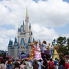 A parade passes the castle