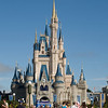 Disney World Magic Kingdom - Cinderella Castle. This is 3 photos stitched together vertically.