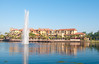 • Wyndham Bonnet Creek Resort<br /> • Water spray in the center of the lake