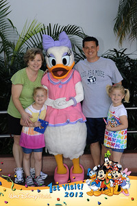 Our first character greeting on our first family visit to Disney World.