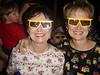 Grandma and Nana waiting to go into Mickey's Philharmagic at Magic Kingdom.