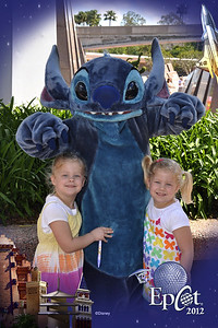 The girls liked Stitch.  Epcot was a great place to meet characters.