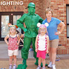 The girls pose with a Green Army Man. . .and that's how he signed his name - Green Army Man. :-)