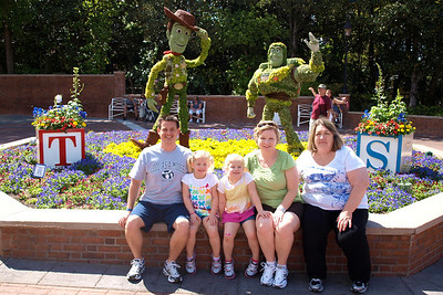 It was the time for the Flower Festival at Epcot.  They had many character shrubs and flowers around the park.