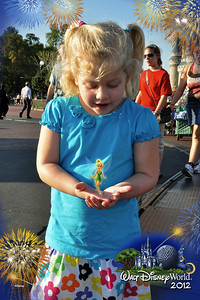 Kamryn was surprised to look down and see Tinker Bell floating in her hands.