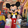 Kamry & Sydney meet Mickey Mouse for the first time.