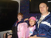 On the shuttle headed to the terminal early in the morning headed to Disney World!
