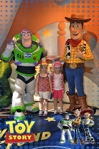 Kamryn & Sydney with Buzz and Woody.