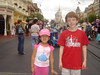 Just arriving at Magic Kingdom on the first day of our Disney vacation.