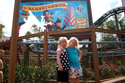 They both really liked the Barnstormer roller coaster.