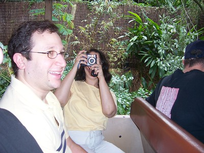 George taking a picture of Jenn taking a picture of George, etc, etc.
