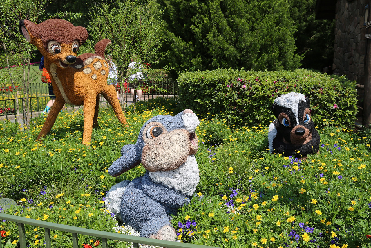"EPCOT - ""Bambi, Thumper, and ??"" topiary"