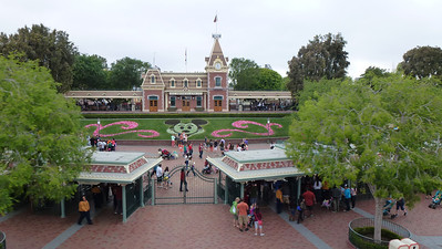 The front of Disneyland (view from the monorail).