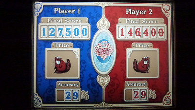 Toy Story Mania scores - Mike won!