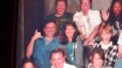 Mike and Diane on Tower of Terror