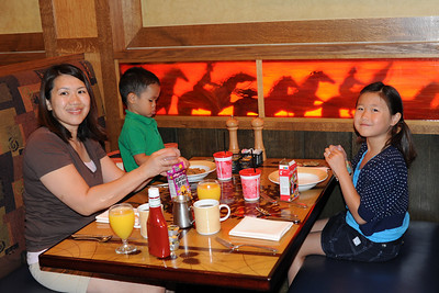 Breakfast at Storyteller's Cafe in the Grand Californian Hotel