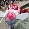 Katie's first amusement park ride, ever