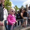 Waiting to get on her first amuzement park ride--Dumbo!