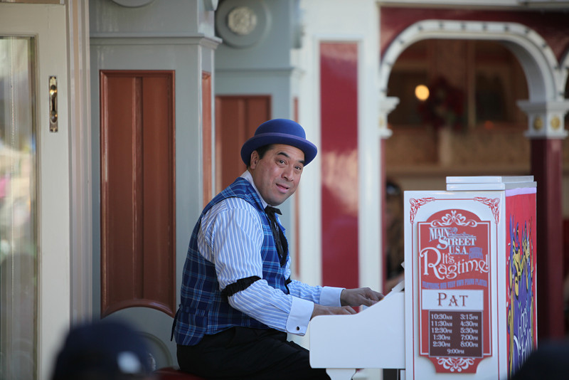 Pat was awesome. He was playing some great Ragtime and I just stood there for about 20 minutes listening. A lot of people were enjoying his talent. He was probably the highlight of my day at Disneyland!