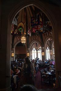 View of the main dining room in Cinderella's castle