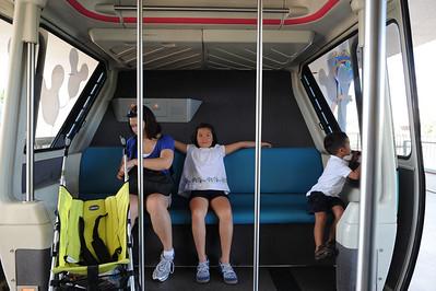11:05AM Taking the monorail to Magic Kingdom