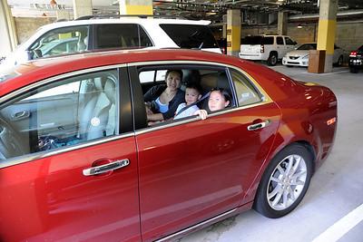 The rental car - a Chevy Malibu