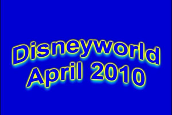 Disneyworld April 2010