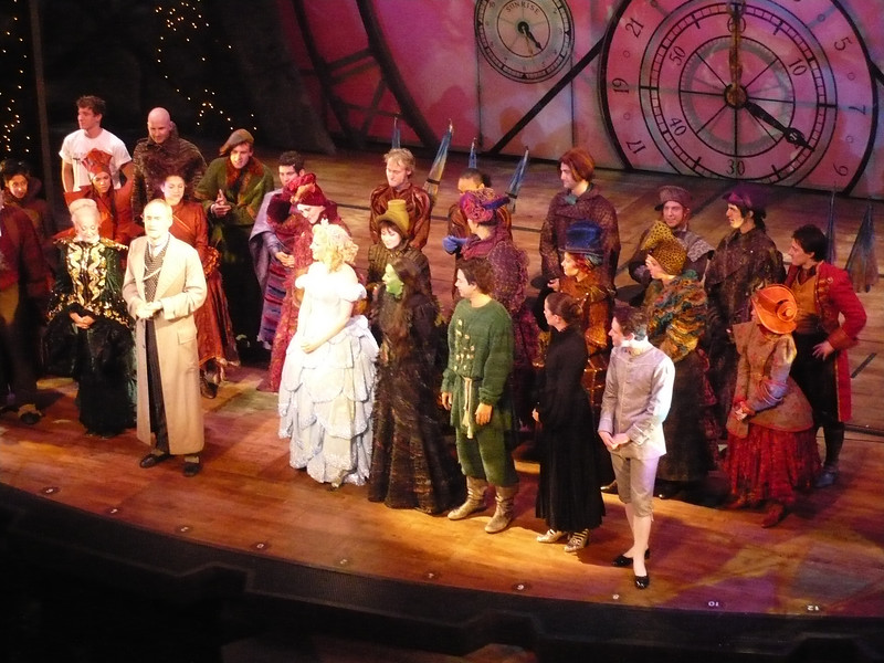 The Cast at closing curtain - this is their last performance as a troupe