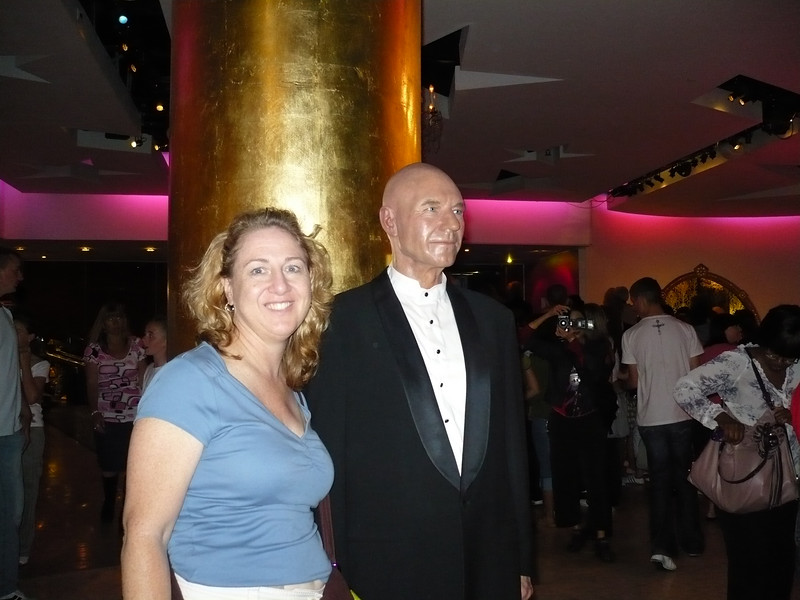 can you believe that I am at a party with Captain Picard??
