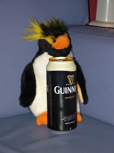 Gred getting ready for his Guinness