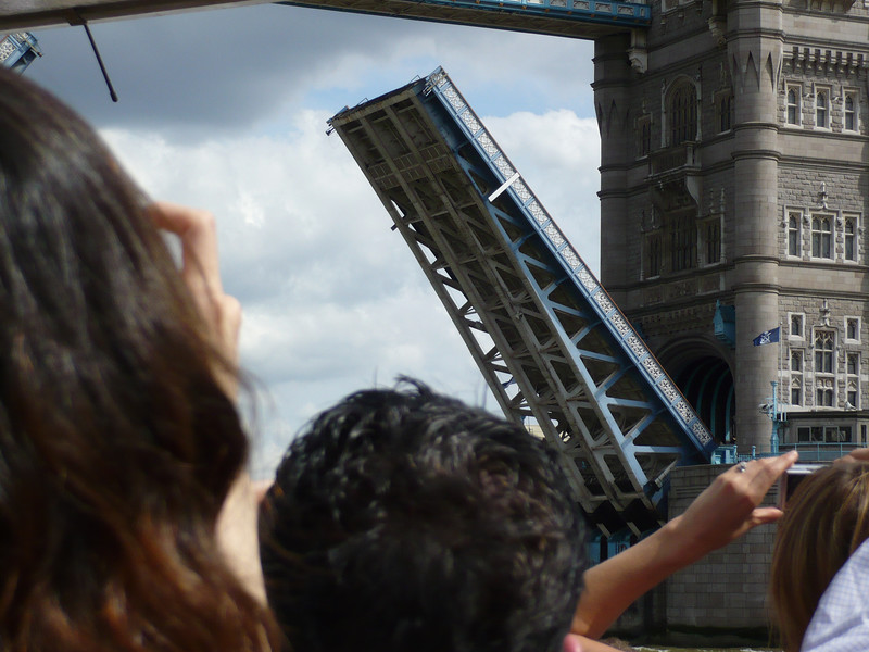 an amazing site - getting to watch the Tower Bridge in action not once - but twice!