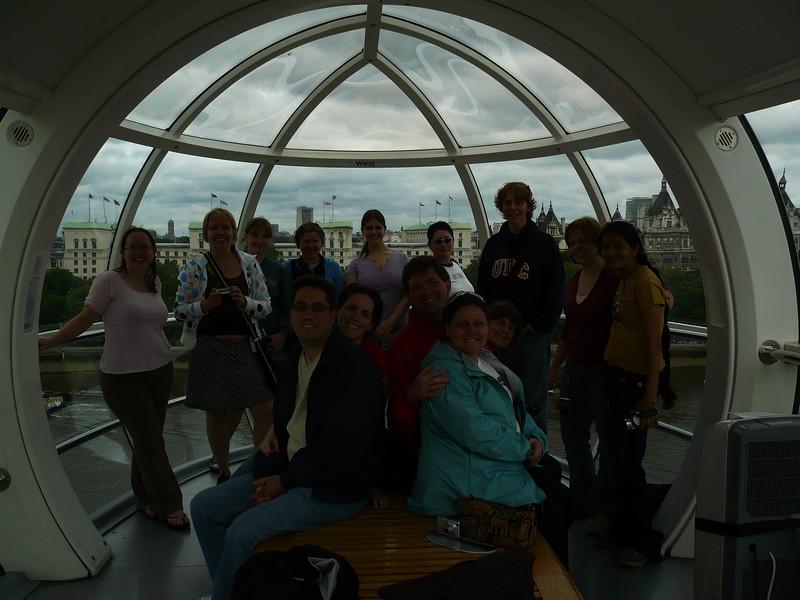 great pod shot!<br /> <br /> In back:  Suzi, Linda, Kristen, Steff, Jackie, Tierah, Graham, Jenn, Bharvi<br /> sitting:  Greg, Shannon, Paul, Joyce, Twyla
