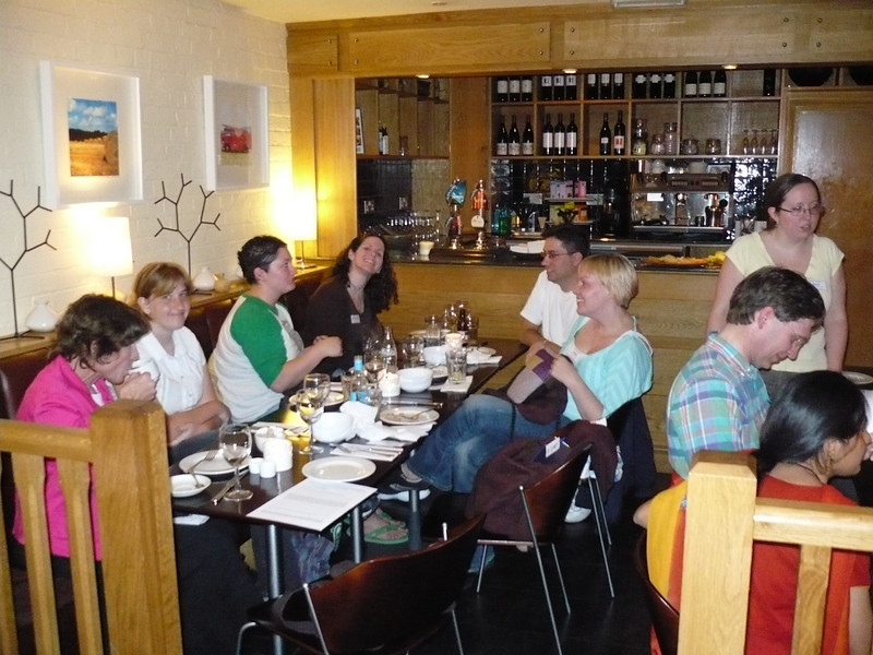 Finally time to meet everyone!<br /> <br /> From left (back) - Twyla; Kristen; Tierah; Shannon; (front) Greg; Linda<br /> <br /> On the right (back) - Suzi (standing); Paul; Bharvi