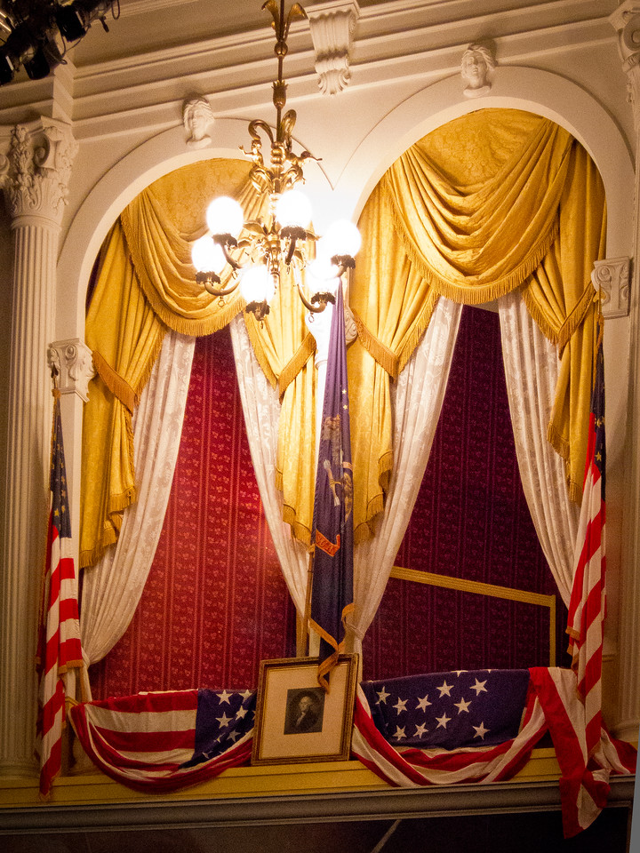 Box Seats in Ford Theatre where Abraham Lincoln was KIlled