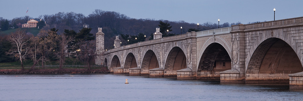 Arlington Memorial Bridge, Washington DC.  In the upper left you'll see the Robert E. Lee memorial.