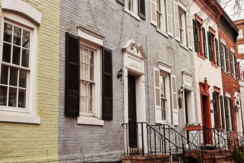 Some old homes in Georgetown Virginia